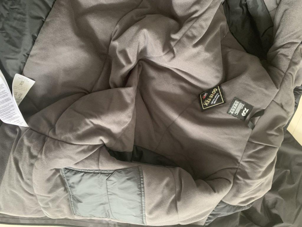 ダイワDW1909の上着の内側の生地