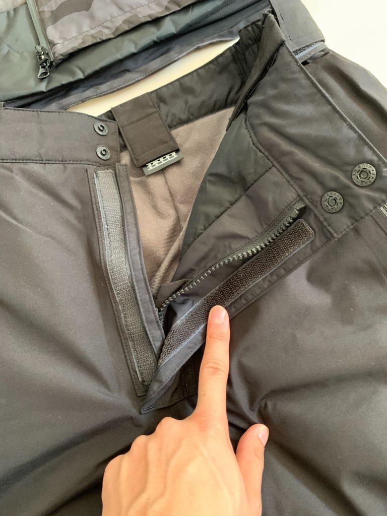 ダイワDW1909のズボンの内側の生地