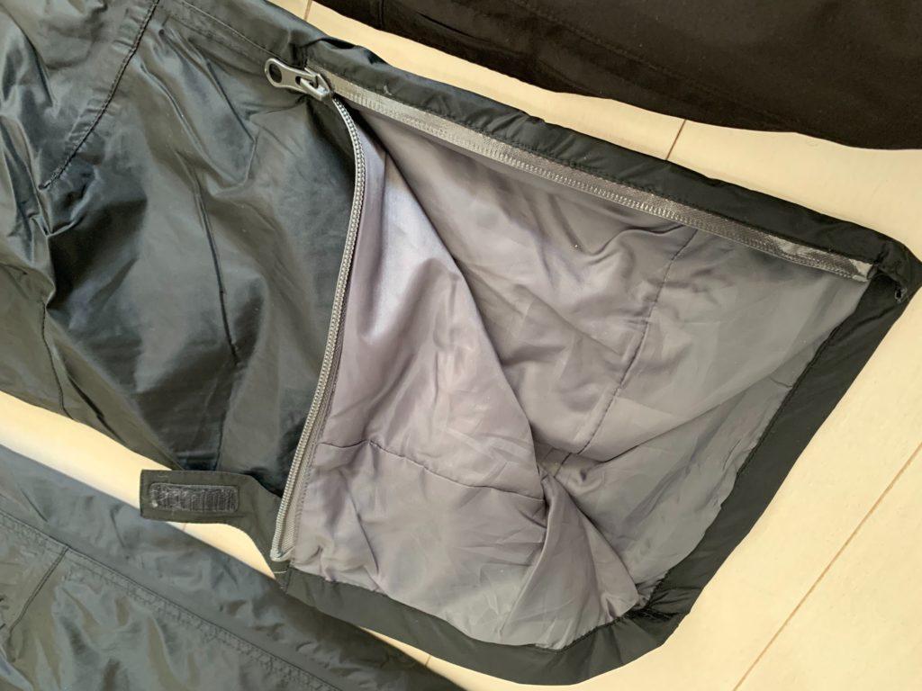イージスオーシャンのズボンのファスナー